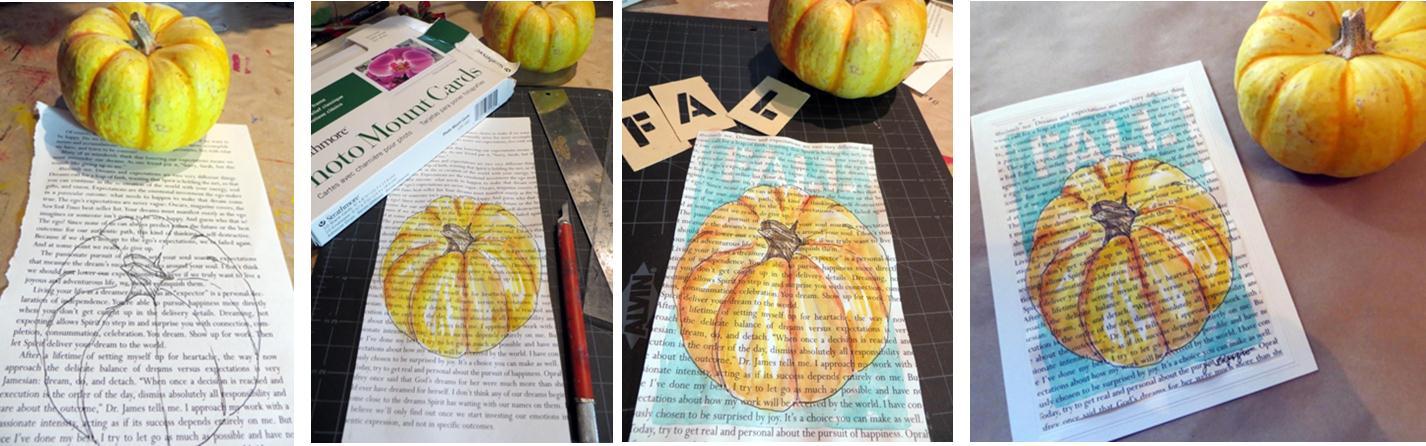Carte de vœux d'automne