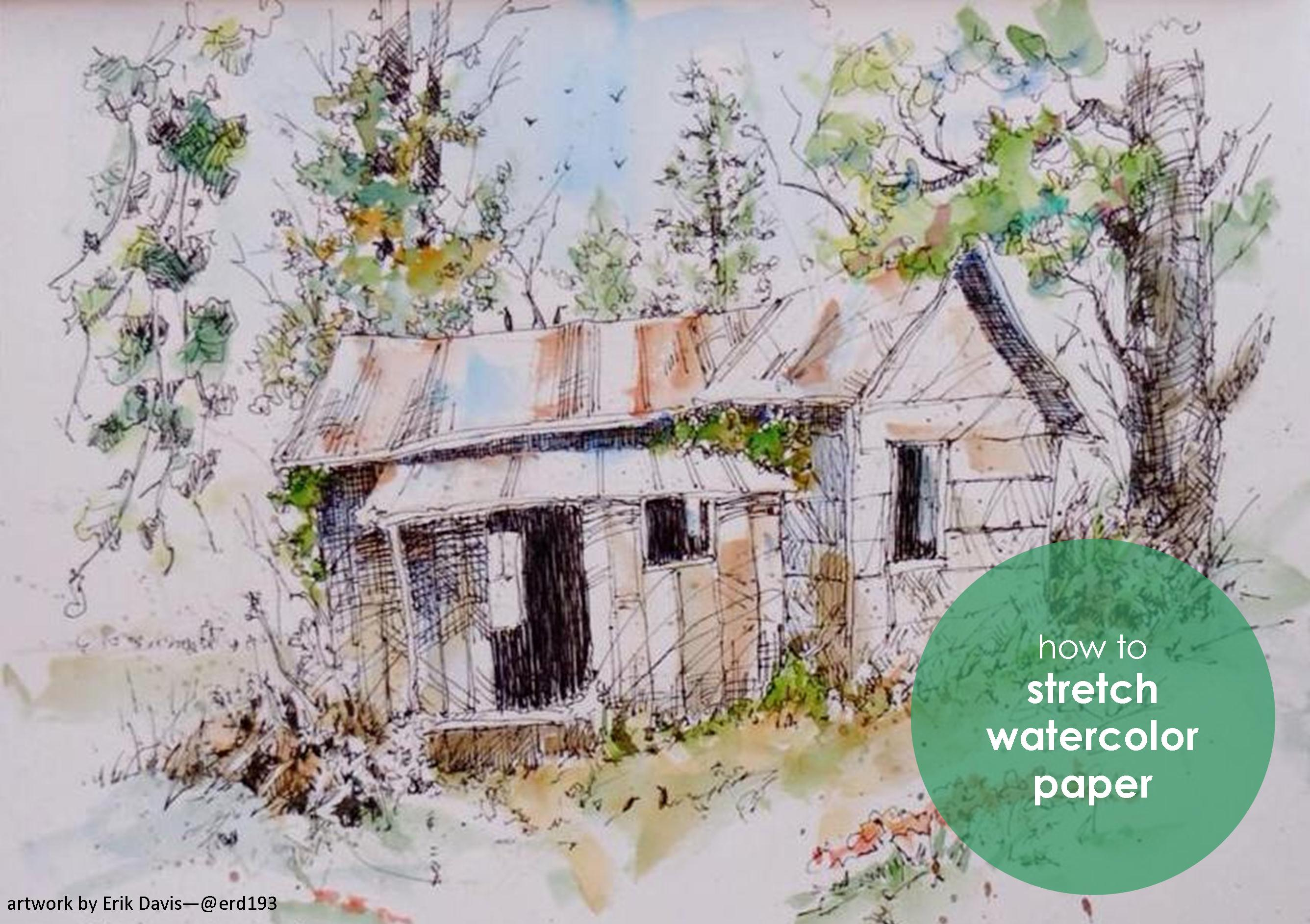 Stretching Watercolor Paper Strathmore Artist Papers
