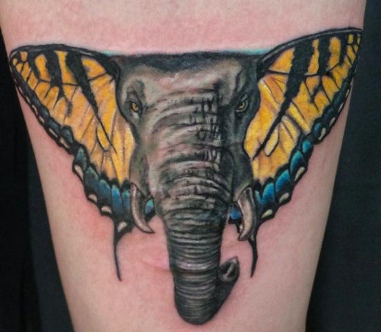 Tatouage de l'éléphant