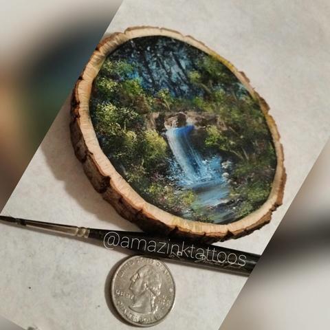 Laura Schrampfer Peinture sur bois