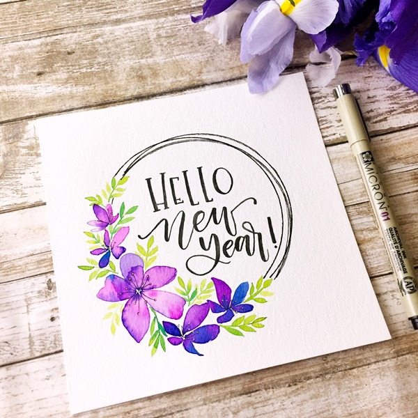 Watercolor Lettering and Brush Pen Calligraphy Online Workshop