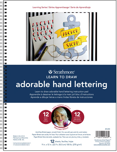 Strathmore Learning Series - Learn to Draw Adorable Hand Lettering