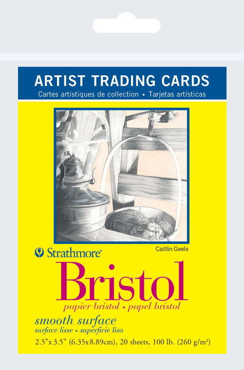 20 Sheets Strathmore Artist Trading Cards 307809 2.5 x 3.5 Inches Vellum Surface Bristol