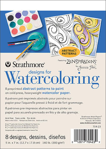 Designs for Watercoloring Abstract Patterns