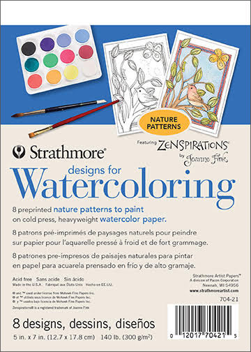 Designs for Watercoloring Nature Patterns