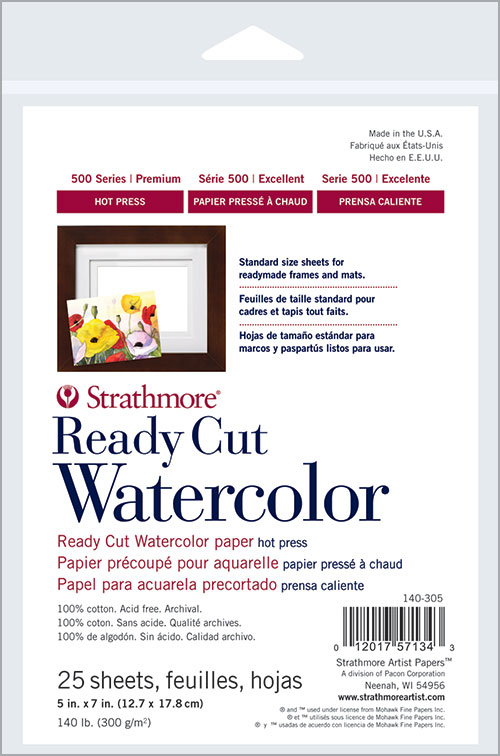 500 Series Ready Cut Watercolor Strathmore Artist Papers